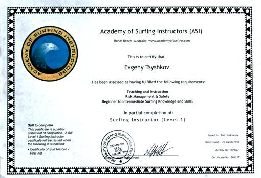 Academy of Surfing Instructors и Мы...