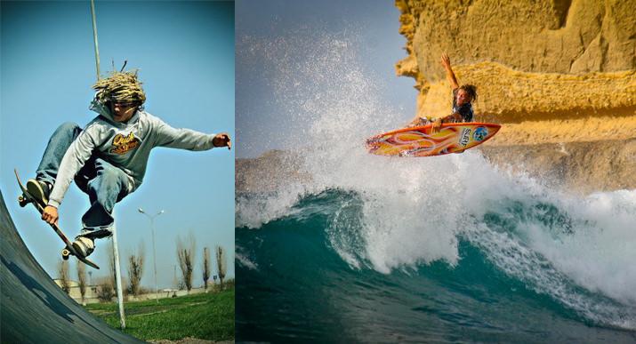 Скейтборд в помощь серфингу
