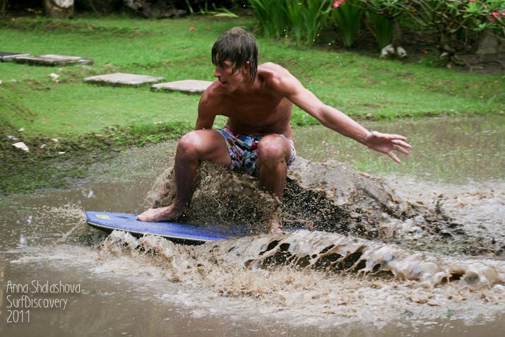 Соревнования по луже-серфингу