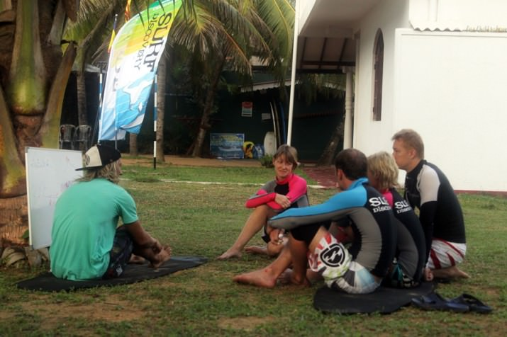 Ученики SurfDiscovery на Шри-Ланке