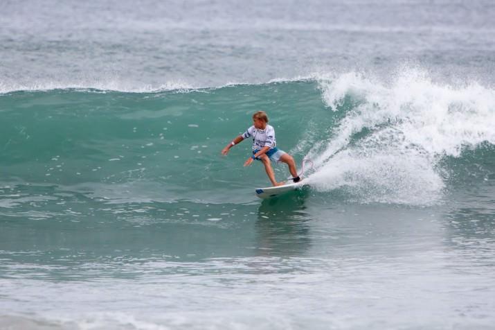 Junior surfing