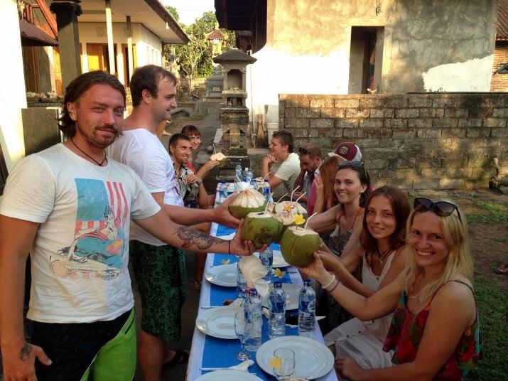 Ужин в балийской деревне