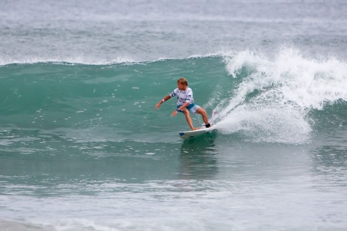 Junior surfing