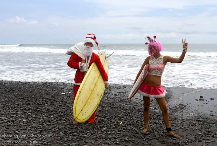 Дед Мороз и Леди Гага.