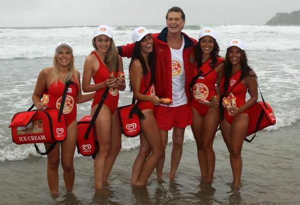 David Hasselhoff Patrols Mt Maunganui Main Beach